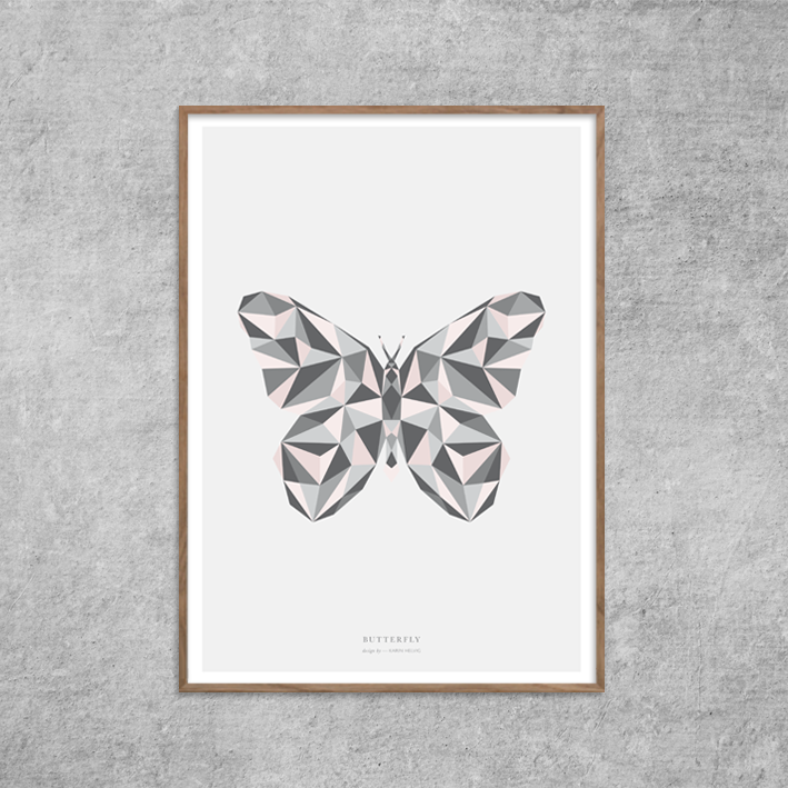 Plakat_butterfly_sommerfugl-rosa_nude_poster_Red-Zone