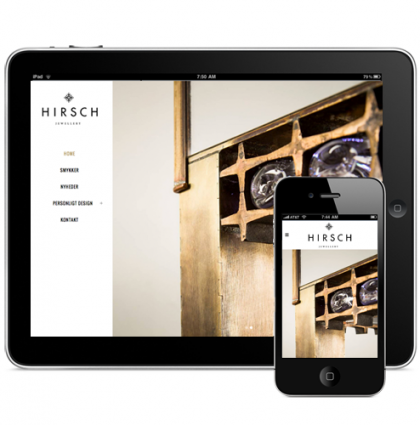 HIRSCH Jewellery – Responsive web design