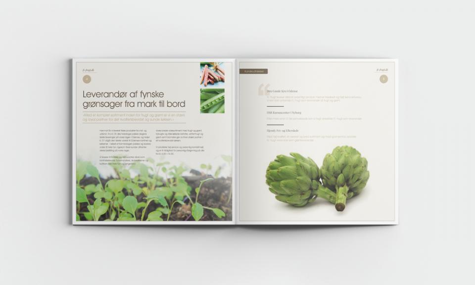 FL-frugt profil brochure. Lokal engros leverandør på Fyn af frugt og grønt til virksomheder