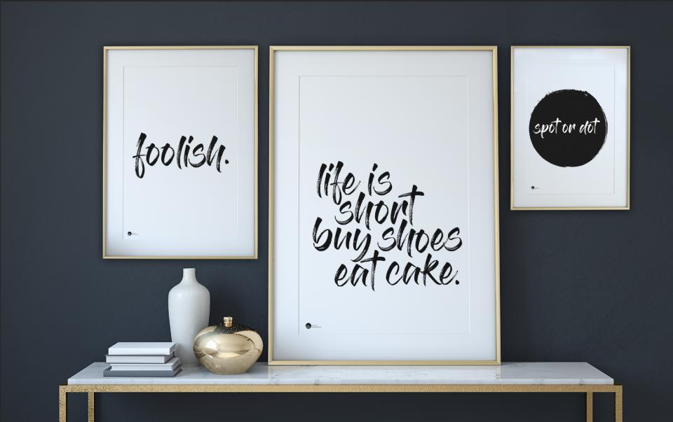 Typografiske plakater, typografi, inspiration, typografikske billeder, billeder med teskt, citater, staement
