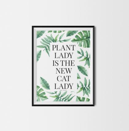Typografiske og plante plakater