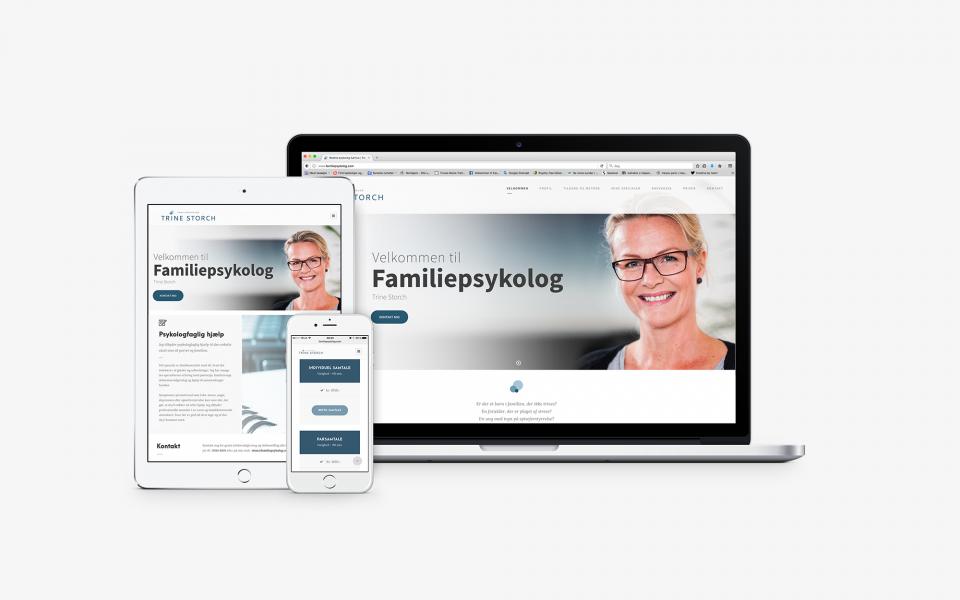 Trine_Storch_familiepsykolog.com_Responsive webdesign, grafisk design, visuel identitet og logo design, koncept